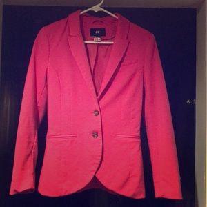 🌟 H&M bright pink blazer size 4.